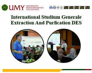 International Studium Generale Extraction And Purfication DES